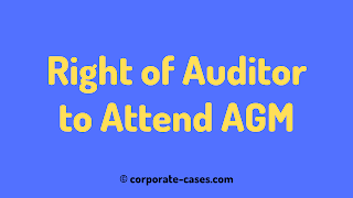 can auditor attend agm