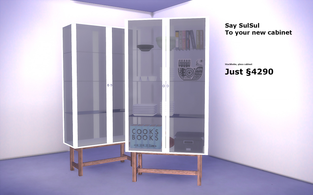 My sims 4 blog ikea stockholm cabinet by simmersoul for Meuble 9 cases ikea