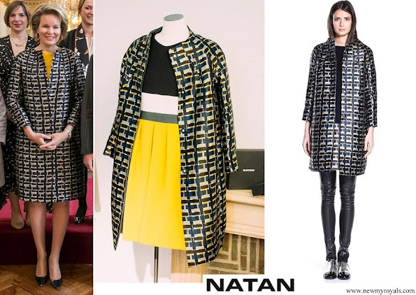 Queen Mathilde wore Natan Edouard Vermeulen coat