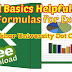Free Download - Excel Basics Helpful Tips & Formulas for Excel