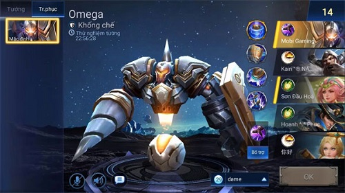 Giả hình dạng của 1 robot khoan máy, Omega giống như gây choáng trên diện rộng nhờ đòn công kích sử dụng 2 mũi khoan lớn lao, cũng chính là 2 cánh tay của mình
