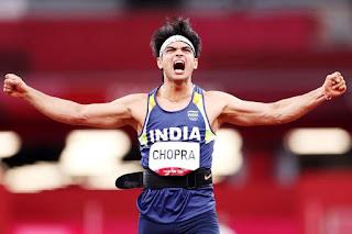 Neeraj Chopra,भाला फेंक,खिलाड़ी नीरज चोपड़ा,neeraj chopra olympics,ओलंपिक,neeraj chopra olympics 2021,Golden throw': Neeraj Chopra wins gold in men's javelin throw at Tokyo Olympics, breaks India's 100-yr jinx
