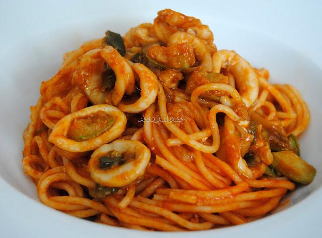 Espaguetis con Calamares