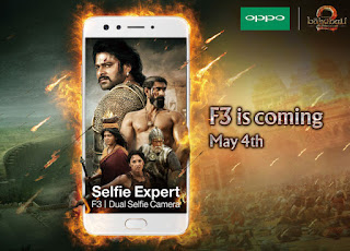 Oppo F3 with Dual Selfie Camera to launch on May 4th