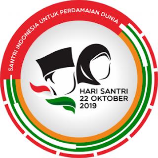 maskot logo hari santri nasional