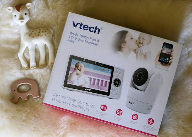 "VTech RM5762 Wi-Fi Remote Access Video Baby Monitor with 5""display and 1080p HD 360-degree Pan & Tilt Camera"