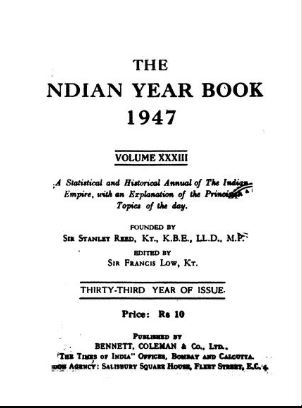 The Indian Year Book 1947 Vol-xxxiii (1947) by Reed Sir Stanley in PDF