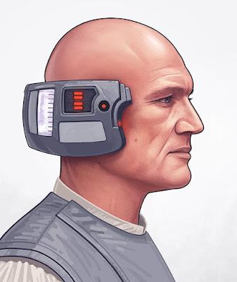 MondoCon 2016 Exclusive Star Wars Lobot Portrait Print by Mike Mitchell x Mondo