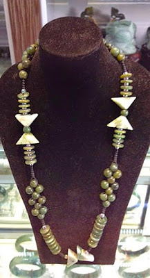 Olive jade ball necklace new design