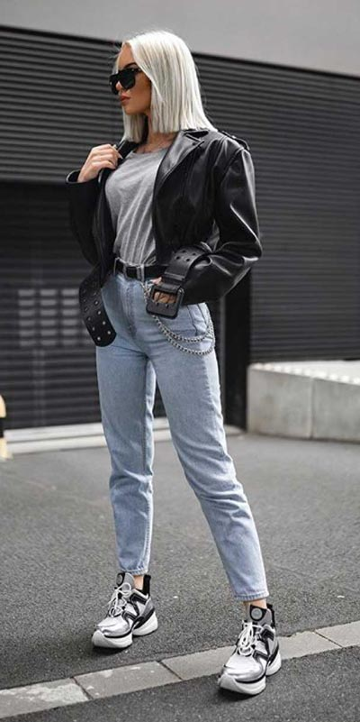 kickstart this season with these 24 charming street style summer fashion ideas. Summer Outfits via higiggle.com | jacket + jeans | #streetstyle #summeroutfits #jeans #jacket