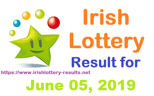 Irish Lottery Results for Wednesday, June 05, 2019