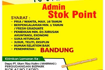 Lowongan Kerja Admin Stok Point PT. Ulam Tiba Halim