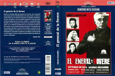 Carátula dvd: El general de la Rovere (1959) Il generale Della Rovere