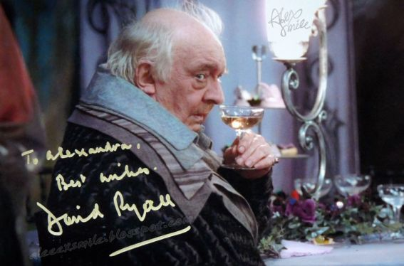 David Ryall - autograf Harry Potter