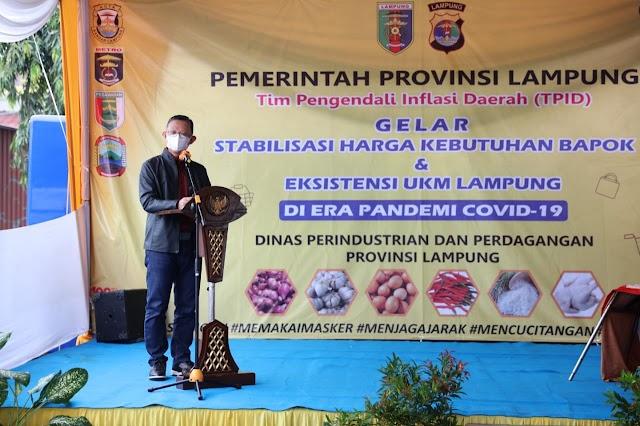 Antisipasi Kenaikan Harga Kebutuhan Pokok, Pemprov Lampung Gelar Stabilitas Harga dan Eksistensi UKM