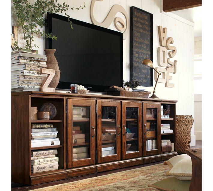 Potterybarn Media Console: Pretty Inspirational: TV Design Solutions