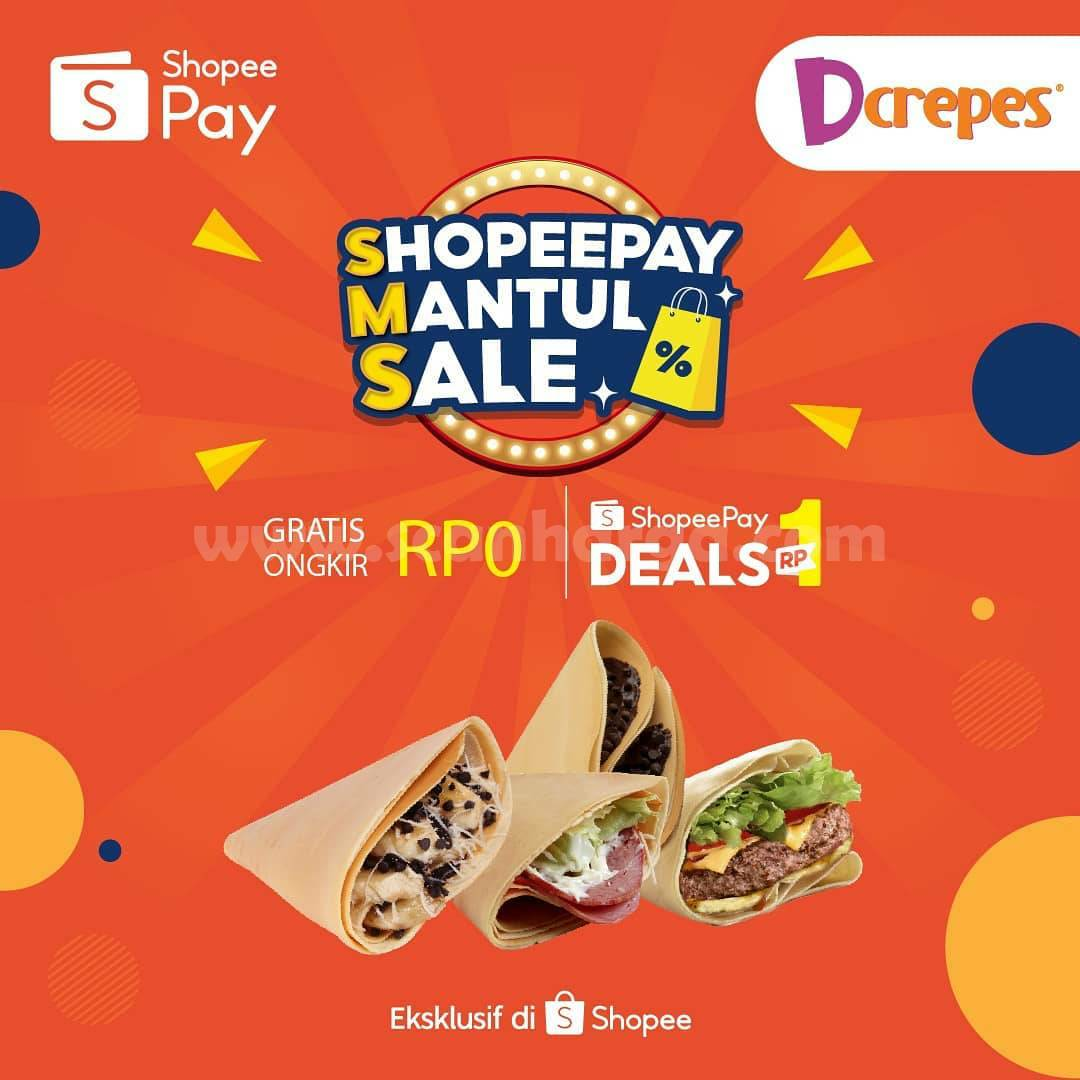 Promo DCREPES ShopeePay Mantul Sale! Beli Voucher Cashback cuma 1 Rupiah!