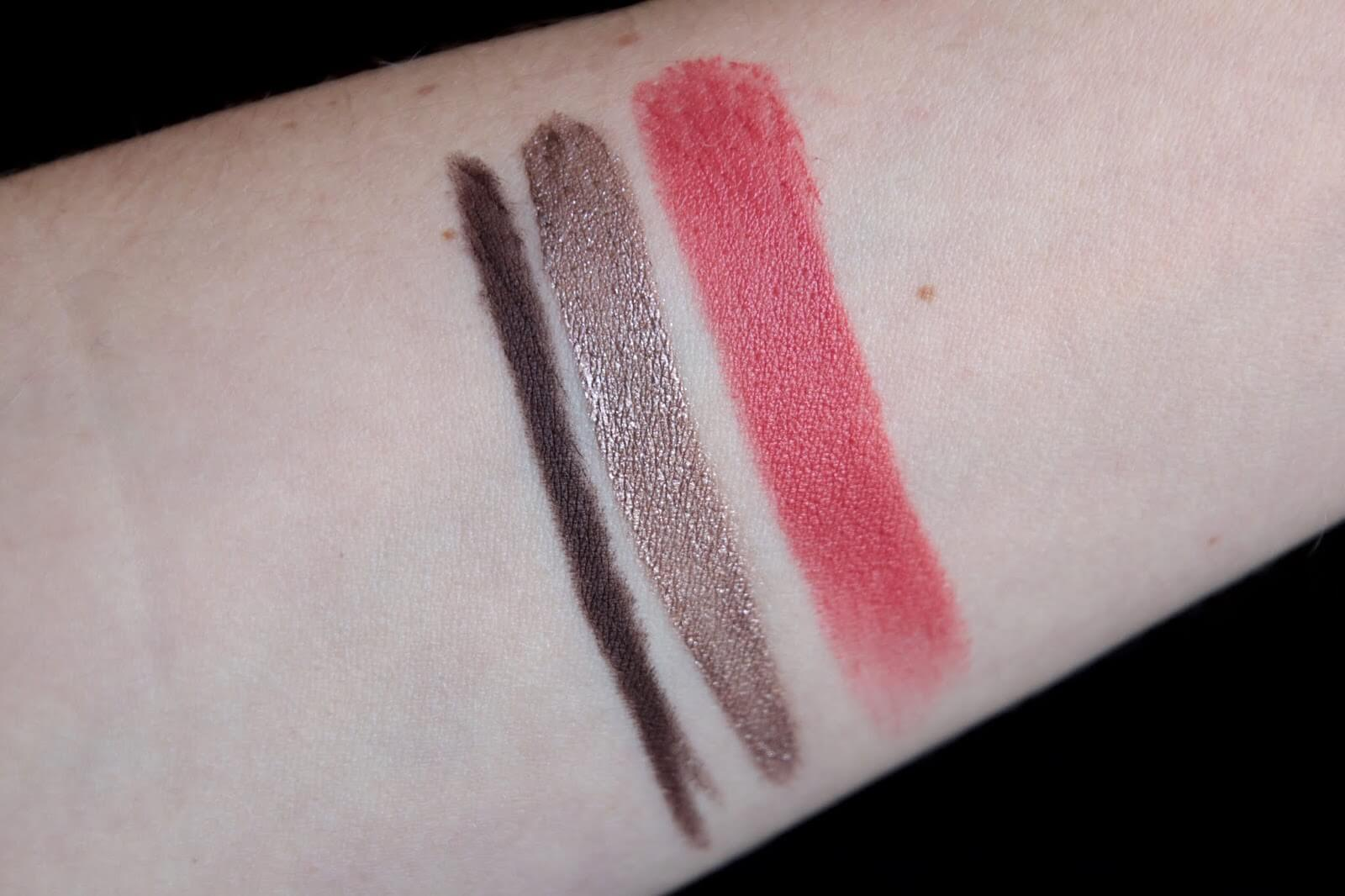 chanel rouge allure 191 ombre laque 28 stylo contour brun 34  swatch