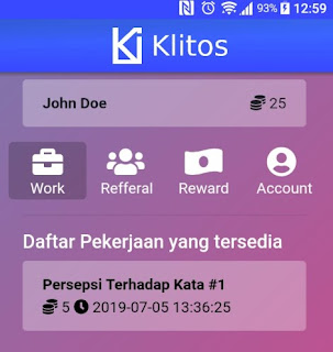 Klitos APK Aplikasi Penghasil Pulsa Gratis Terbaru
