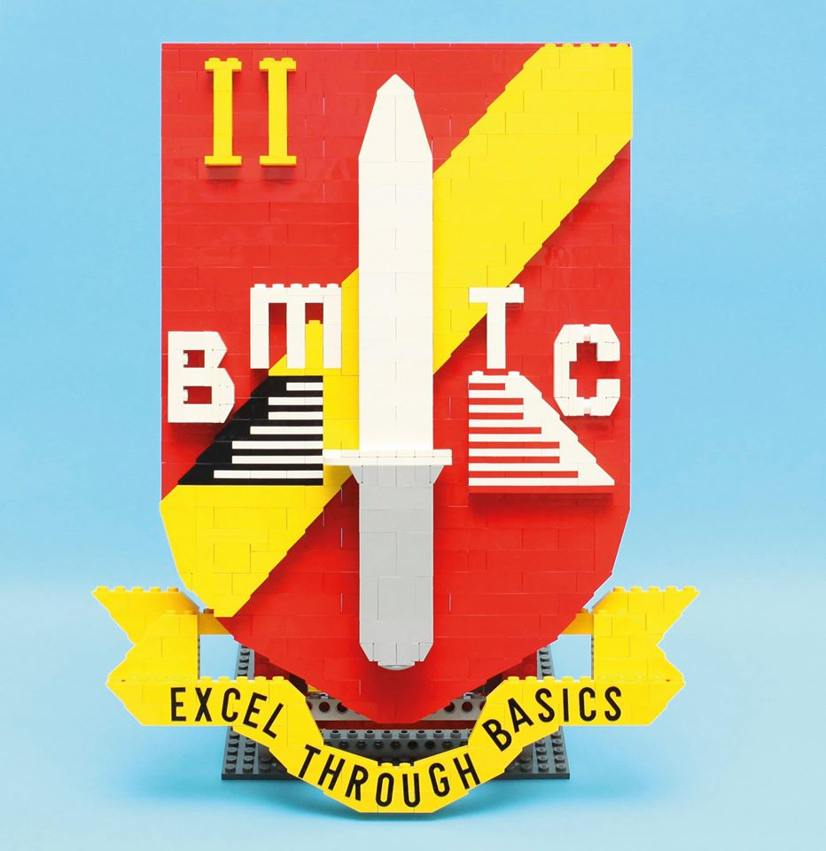 This BMTC School 2 logo was custom-built for outgoing Commanding Officer Lieutenant Colonel Lee Bin Hwee in 2015.