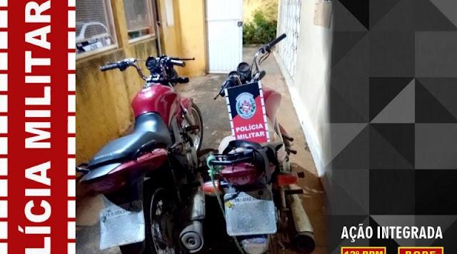 Duas motos roubadas são recuperadas em Brejo dos Santos