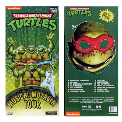 "San Diego Comic-Con 2020 Exclusive Teenage Mutant Ninja Turtles 1990 Movie Musical Mutagen Tour 7"" Action Figure 4 Pack by NECA"