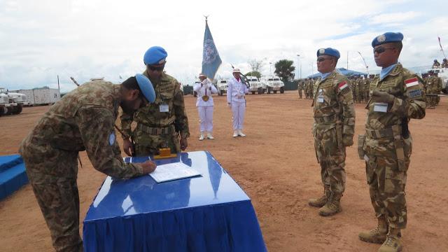 Serah Terima Otoritas Kendali Operasi Satgas TNI di Republik Demokratik Kongo