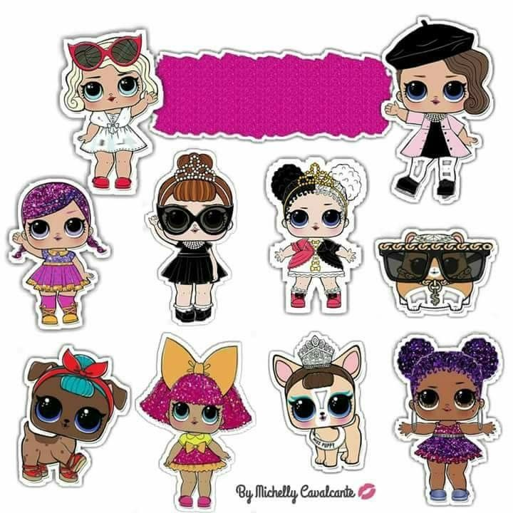 This is a graphic of Lol Dolls Printable with sugar