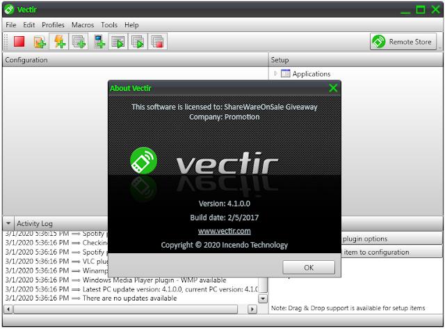 Screenshot Vectir Remote Control 4.1.0.0 Full Version