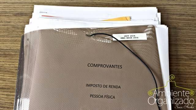 Arquivo dos comporvantes para o Imposto de Renda