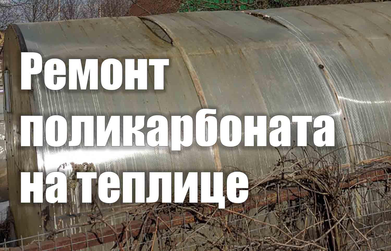 Как отремонтировать поликарбонат на теплице