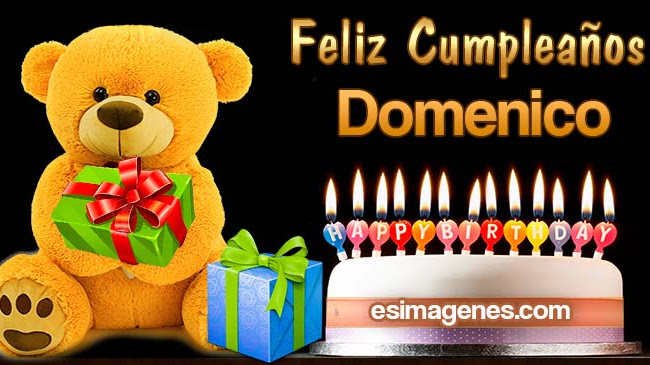 Feliz cumpleaños Domenico