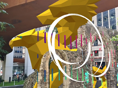 HARMONY - Griffin at St Alphage Ruins, London Wall Place © Brookfield Properties