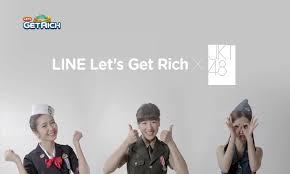 Cover JKT 48 LINE Let's Get Rich Ngeblog Asyikk