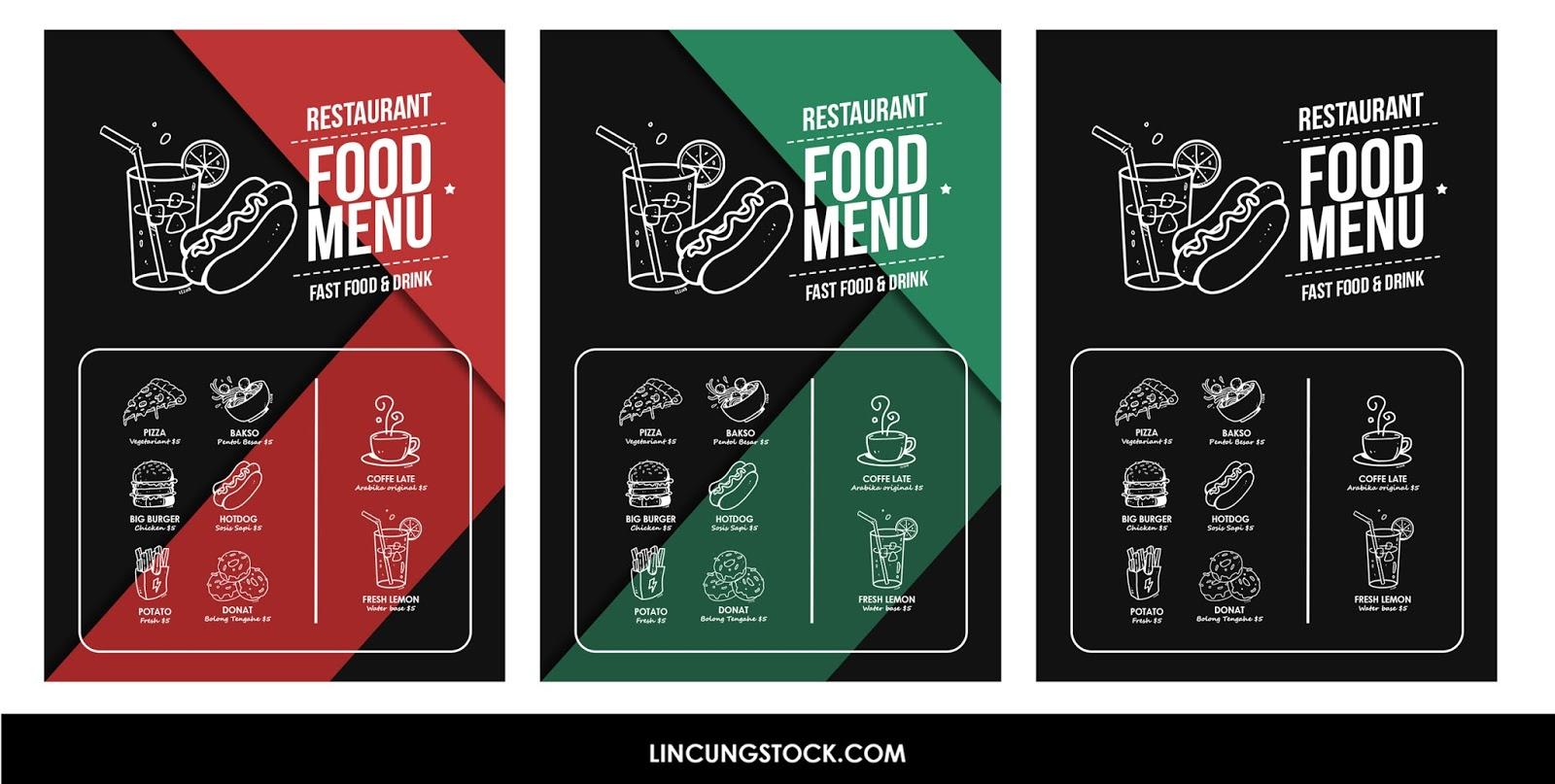 Free Download Hand Drawn Food Menu Template Psd File