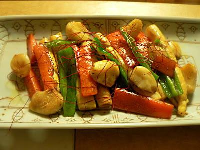 ニンニクと野菜の炒め物