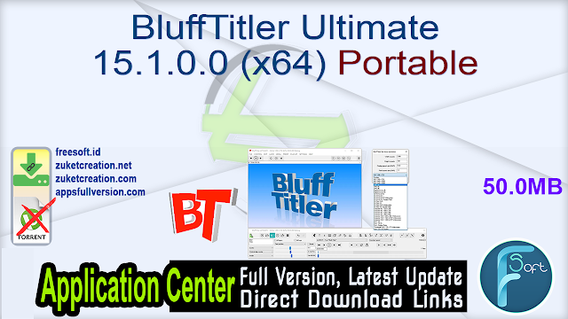 BluffTitler Ultimate 15.1.0.0 (x64) Portable
