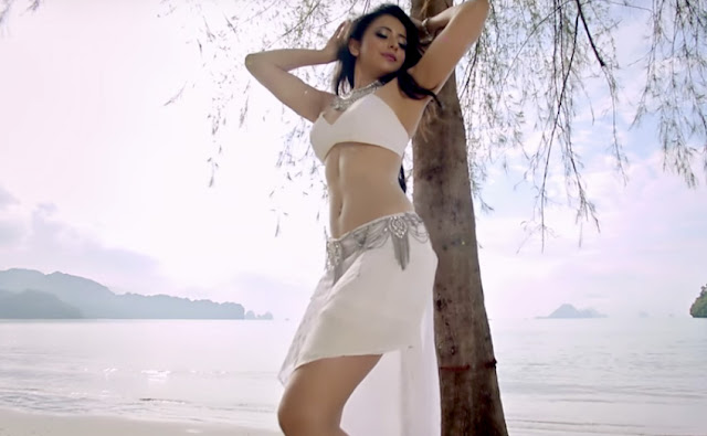 rakul preet singh hot pics in pareshanura song in dhruva movie