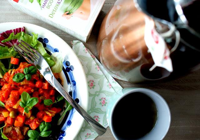 pieprz ziołowy skworcu,olej kokosowy skworcu,groszek i marchewka,czarny ryż skworcu,herbata teekanne,slim detoks teekanne,gulasz z indyka,seler naciowy,danie z ryżu,