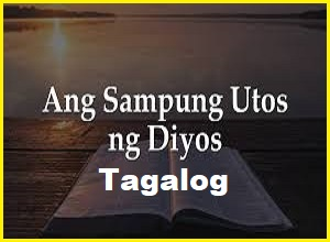 10 utos sampung utos ng diyos tagalog