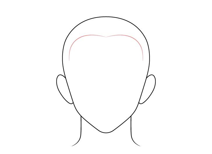 Gambar depan anime buzz cut pria rambut