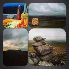 collage of pictures of dartmoor on a cloudy day