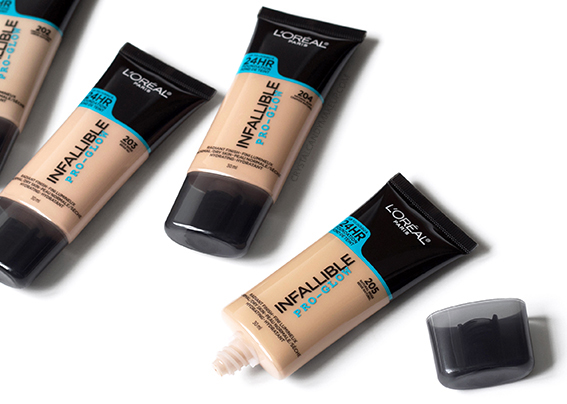 L'Oréal Infallible Pro Glow Foundation Packaging Review Photos