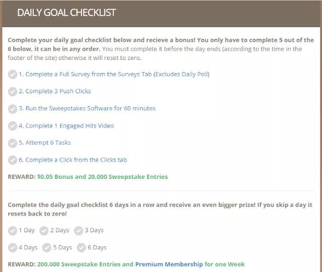 Timebucks Daily Goal Checklist