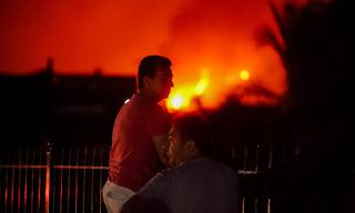 Φωτιά Εύβοια: Ολονύχτια μάχη με τις φλόγες – Συνεχείς αναζωπυρώσεις – Στα 11.5 χλμ το πύρινο μέτωπο