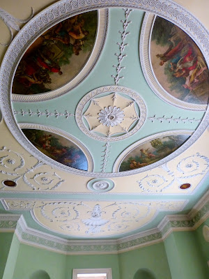 Dining Room ceiling, Saltram © A Knowles 2014