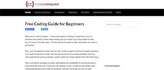 Situs belajar coding gratis Code Conquest