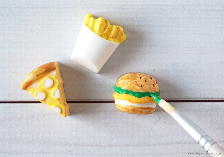 Resin Junk Food with Paint Brush