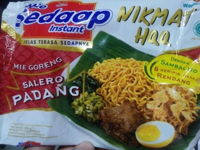 """Mie Sedaap """"Salero Padang"""", Sensasi Nikmat HQQ ;Mie Goreng Salero Padang Khas Kuliner Padang;"""