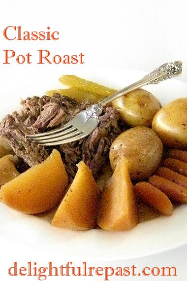 Classic Pot Roast - One-Pot Comfort Food Dinner / www.delightfulrepast.com